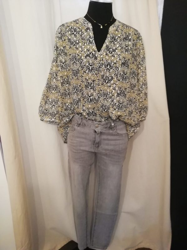 present blouse sido jeans