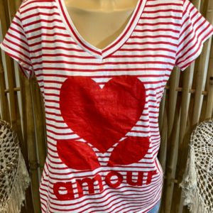 ts mariniere rouge amour