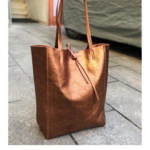 sac cabas brun