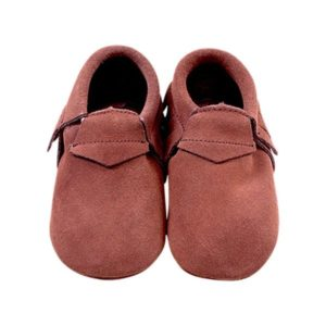 chaussons suede brown
