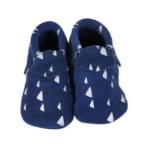 CHAUSSONS SUEDE MARINE