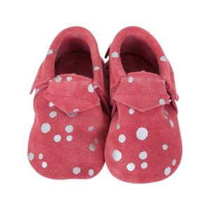 chaussons suede rose